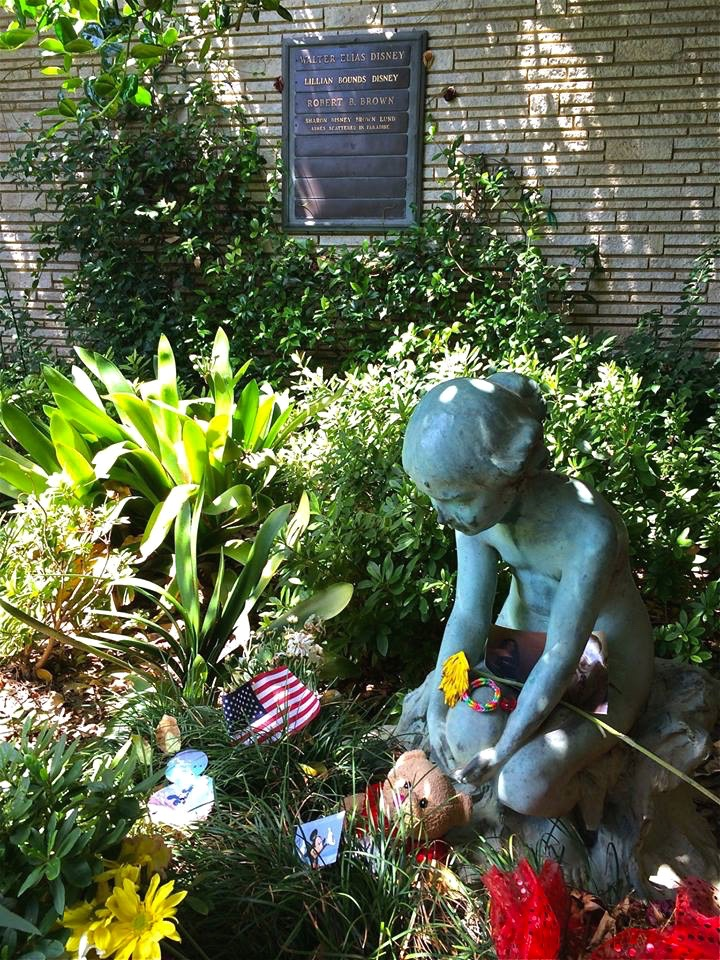 Walt Disney (1901-1966) isn't frozen, his ashes lie here in a gated corner garden with a small statue of the original Little Mermaid. Note: Just swing open the gate if no one is around and say hello to the man that most likely made your childhood more magical.