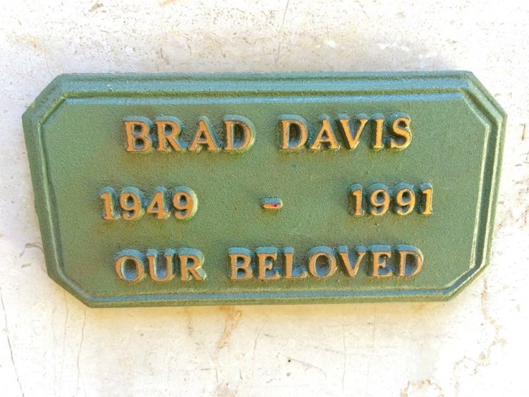 """Our beloved Brad Davis (1949-1991). Star of """"Midnight Express"""", """"Chariots of Fire"""" and """"Roots"""". Brad died in 1991 at age 41, of AIDS. Davis, who (according to his wife) was heterosexual, contracted the virus back in the 70's earlier from a dirty heroin needle. His tragic story is told in the book """"After Midnight: The Life and Death of Brad Davis'' by his widow, Susan Bluestein Davis."""