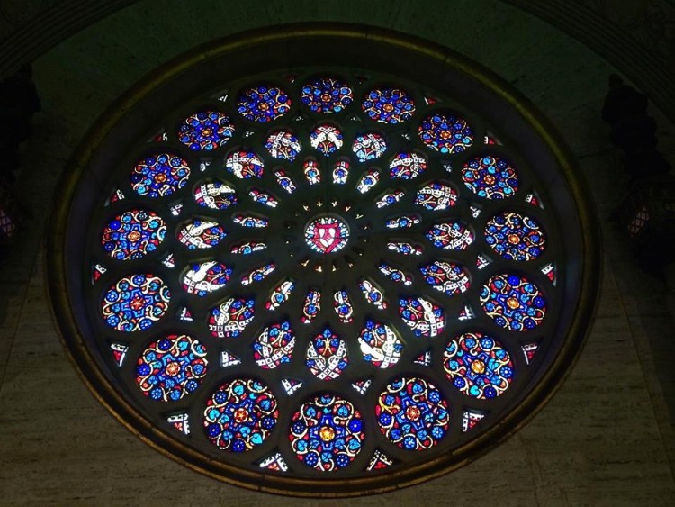 This window is very similar to the 'Rose Window' installed at the Wilshire Temple.