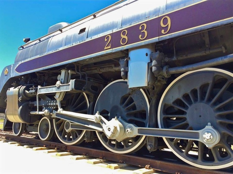 A beautifully restored 1937 Canadian Pacific Royal Hudson locomotive and 1912 Pullman private railcar is located behind the main museum.