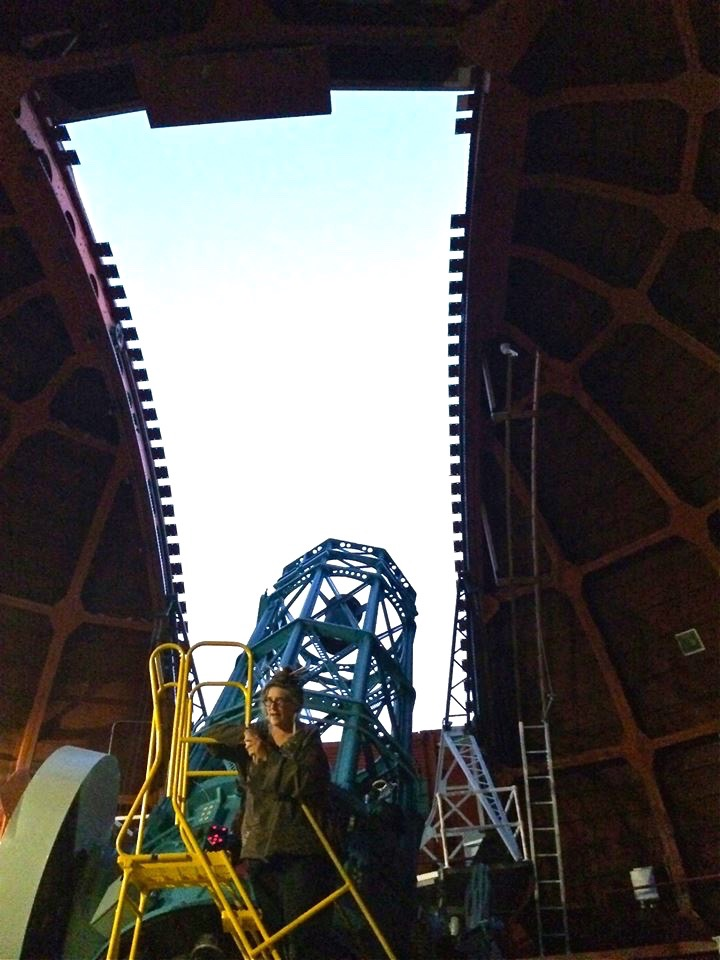 Lining up the telescope with the opening in the roof is a thrilling experience since the dome rotates during the alignment process.