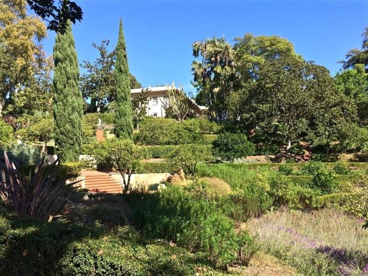 The estate has five distinctive gardens: - The Italian Renaissance Terrace Garden - The Formal Mall Garden - The Rose Garden - The Kitchen Garden or Potager - The Tropical Palm Garden