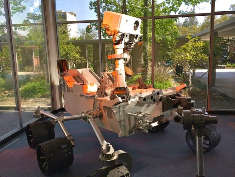 Scale model of the Mars Rover Curiosity.