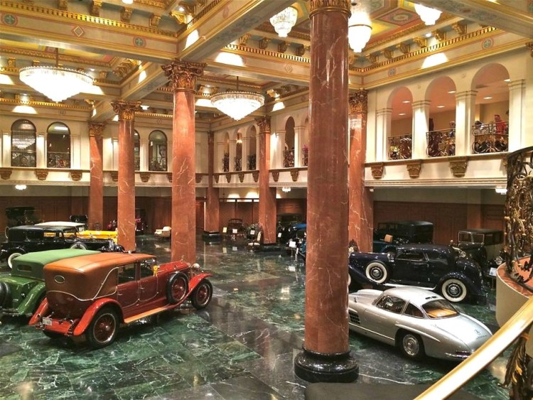 On display in The Grand Salon Showroom are approx. 30 of the finest automoblies from the 1910-30's. Duesenbergs, Cadillacs, Isotta-Fraschini, Delahaye, Minvera, Renault, Maybach, many other European and American built automoblies.