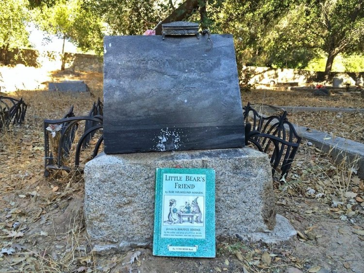 A very touching offering placed in front of a child's grave in Nordhoff Cemetery.