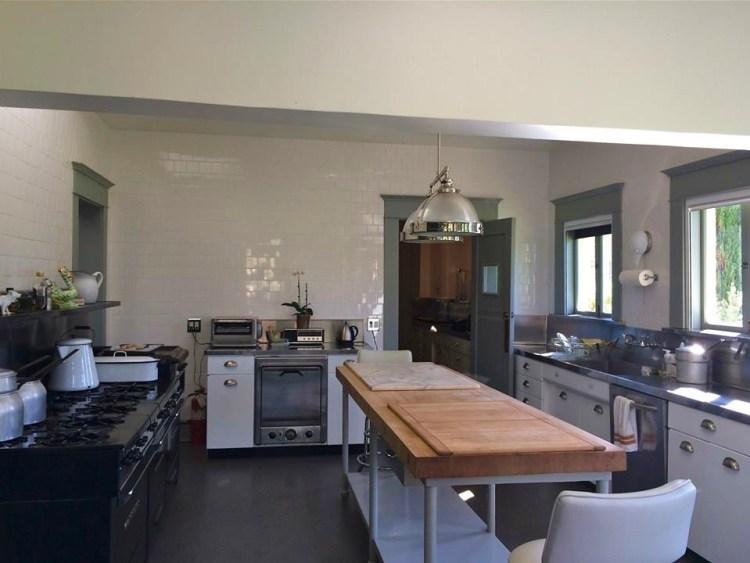 The kitchen is original.