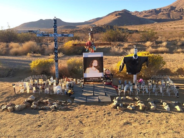 RIP Joe - I was quite impressed with this roadside alter.