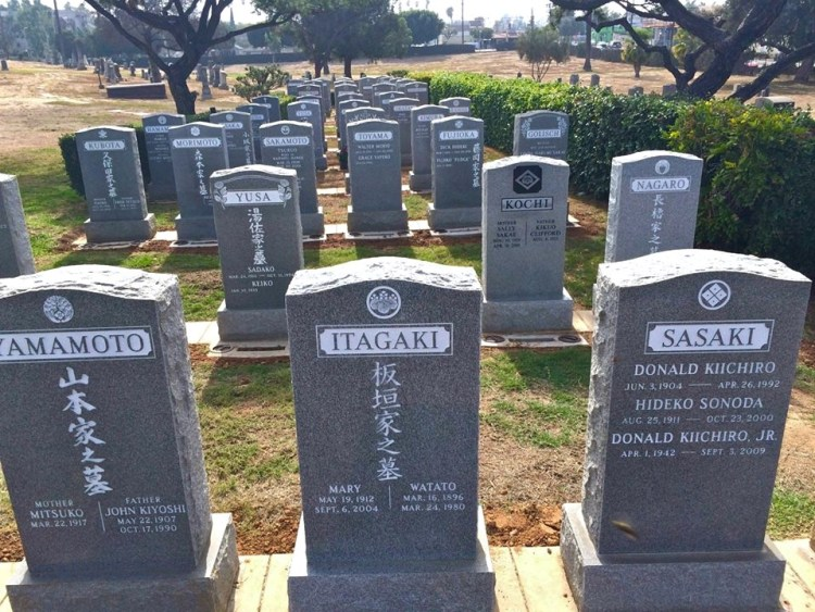 The only cemetery that allowed african-americans to be buried in LA. Chinese were excluded but Japenese were allowed and have quite a large presence within the cemetery.