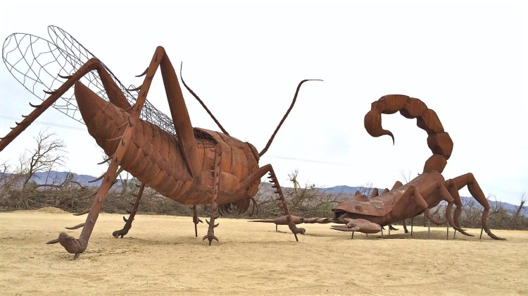 Dennis Avery, land owner of Galleta Meadows Estates in Borrego Springs envisioned the idea of adding free-standing art to his property with original steel welded sculptures created by artist/welder Ricardo Breceda, who is based in Perris, California.