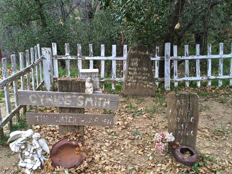 It wouldn't be authentic without a fake cemetery.