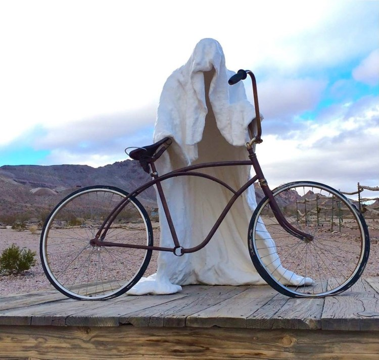 'Ghost Biker ' by CHARLES ALBERT SZUKALSKI [1984]