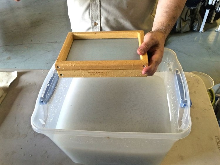 A demo of how to make paper.