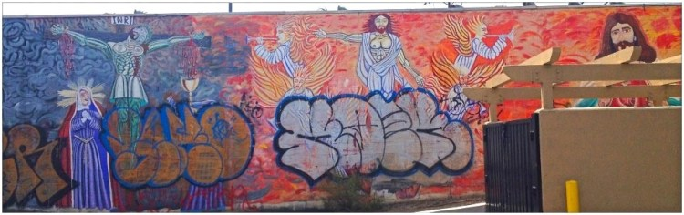 Three Gospels Andy Ledesma, Isabel Mora & Jerry Rodriguez 2913 North Broadway, Lincoln Heights, LACA