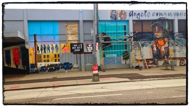Angels Come In Various Sizes *work continues Branded Arts Building 8810 Washington Blvd Culver City, CA 90232
