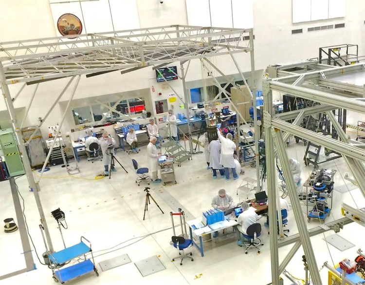 Because of the sensitive nature of the sometimes multi-billion dollar crafts, the dust levels in the clean room where they are assembled is kept strictly below 100,000 particles per cubic foot, making JPL home to the one of the cleanest environments on Earth.
