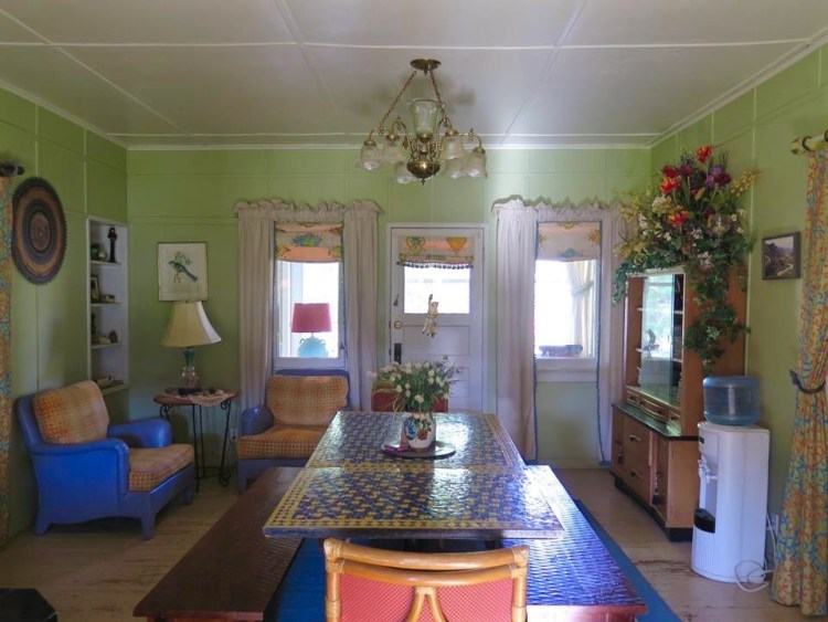 ...a dining room and bathroom
