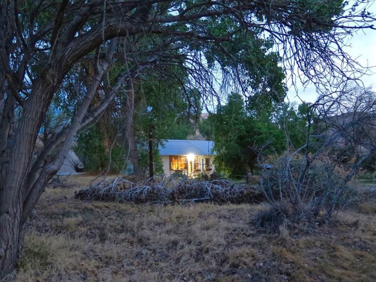 We were told we would have the entire property to ourselves since the other two tipis weren't booked and Cynthia, who usually stays in the Ranch House would be sleeping at her other property in Tecopa.