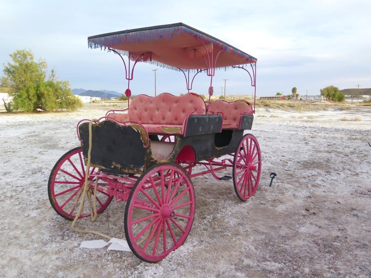 Just look for this pink wagon parked out front....