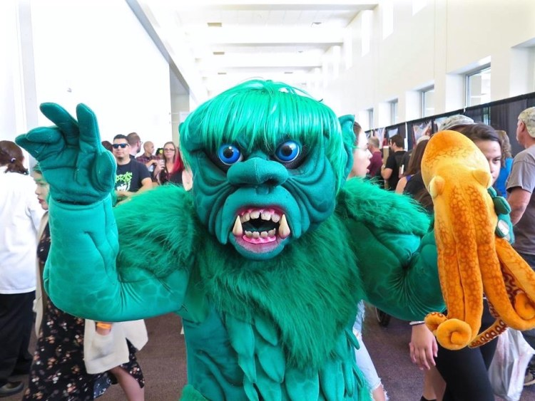But it was this green cute monster...