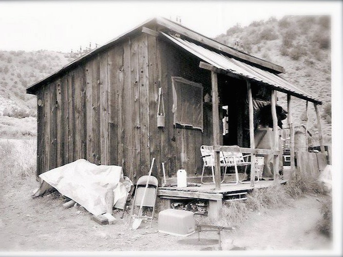 The mine and camp are located over 7500 feet high on the west flank of the White Mountains, where Andalusite was discovered and mined to making sparkplugs from 1921-1945. I had first heard about the mine when I was teenager, back when my family and I would stay in an old miners cabin (pictured above) in Wyman Canyon, which is approximately 70 miles southwest from the Champion Sparkplug mine.