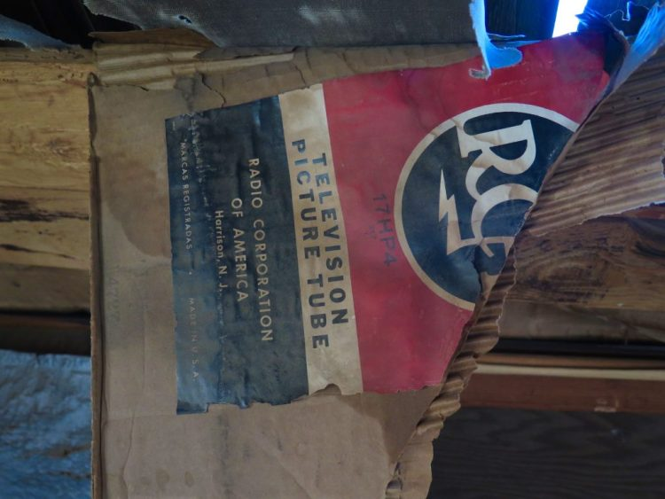 old RCA boxes used as insulation