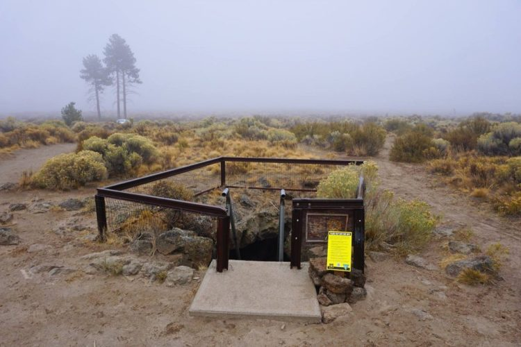 Only 20 minutes outside of Bend, OR icaves left behind from ancient lava flows thousands of years ago