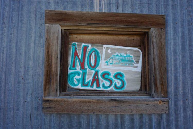 No glass, just ass.