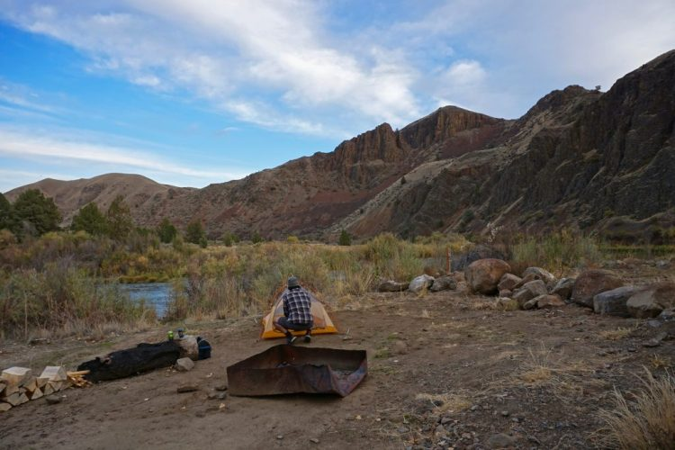 Our secluded campsite for the night along the John Day, third longest free-flowing river in the contiguous United States.