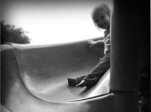Eowyn going down the slide edited