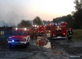 Pożar hali w Ogrodzieńcu (15)