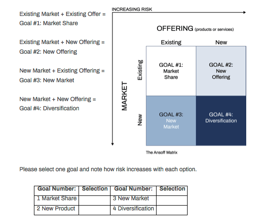 STRE.ME Strategy Services Ansoff Matrix