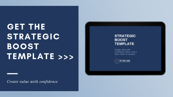 Develop a manageable, actionable, and measurable work plan with STRE.ME's Strategic Boost Template.