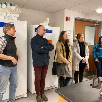 STREAM team receives a tour of the Hajibabaei Lab. ©Raegan Mallinson.