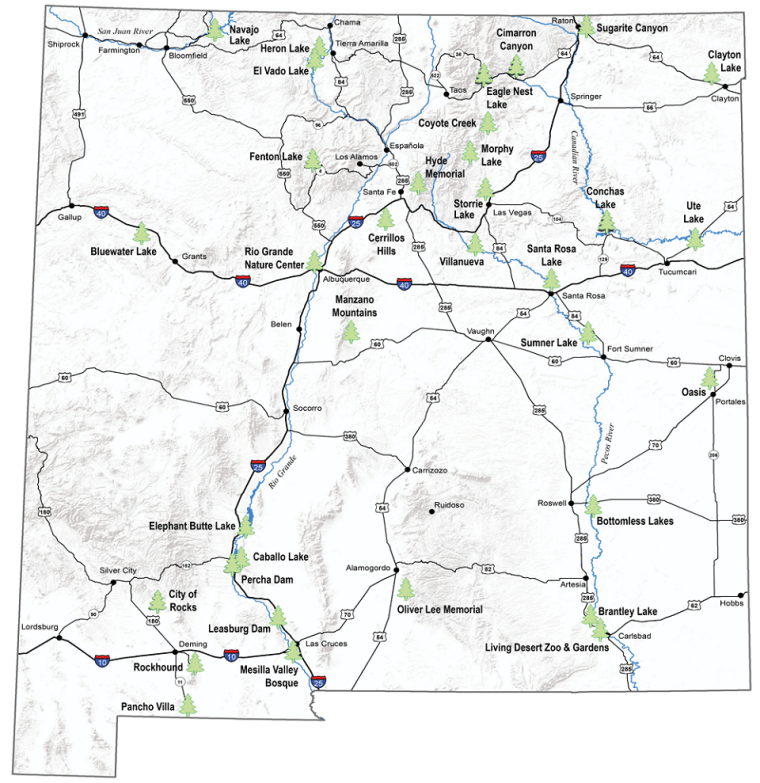 New Mexico State Park Map