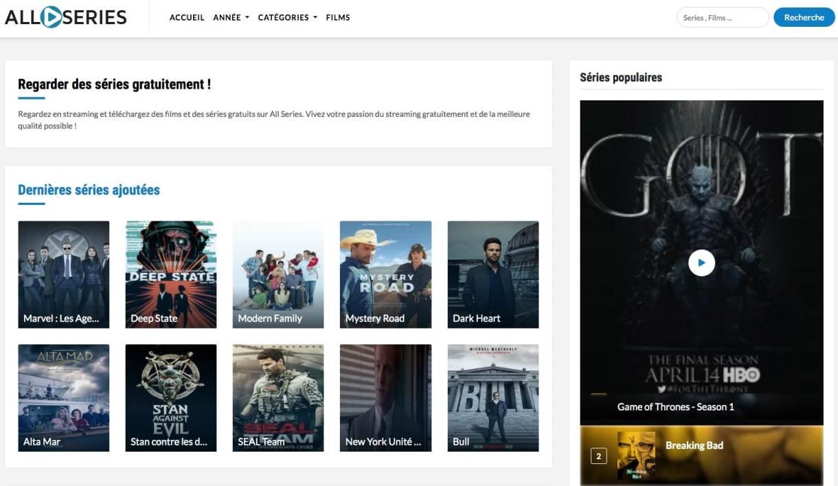 Regardez en streaming et téléchargez des séries gratuits sur AllSeries. Vivez votre passion du streaming gratuitement et de la meilleure qualité possible !