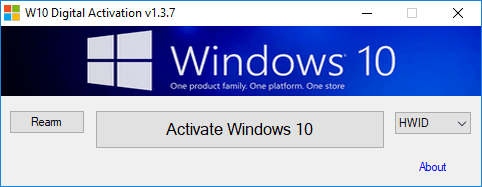 Comment activer Windows 10 avec W10 Digital Activation Program v1.3.7 1