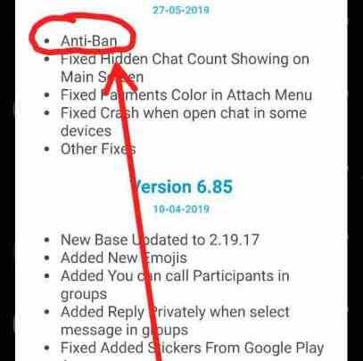 Comment éviter d'être banni avec GBWhatsApp, WhatsApp plus et YoWhatsApp ? 1