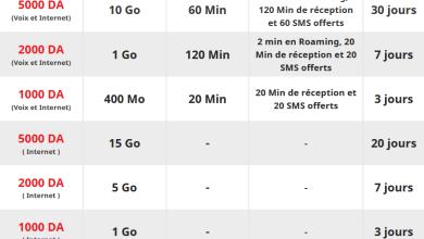 Ooredoo Moussafir : jusqu'à 15 Go d'internet Roaming à partir de 500 DA 8
