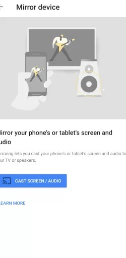 Click on Cast Screen button