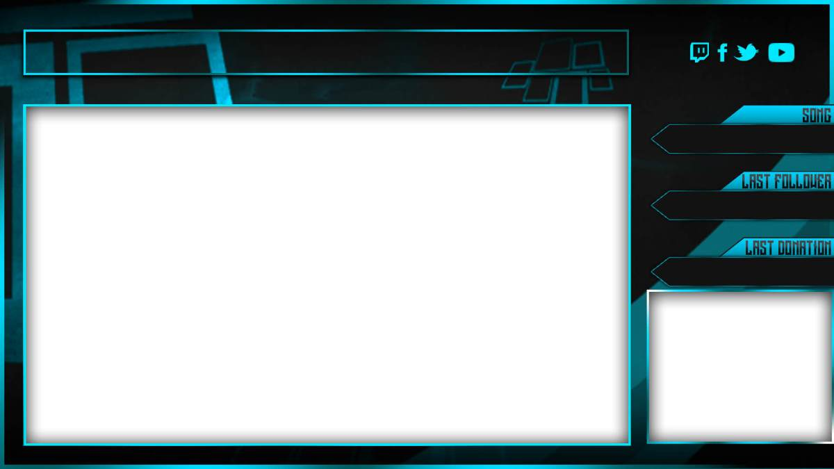 twitch overlay template blue