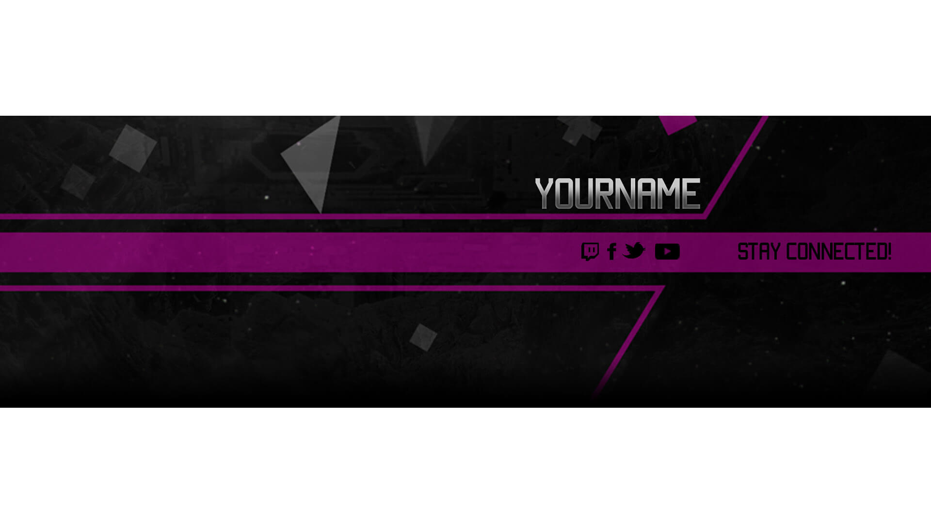 pink banner for twitch