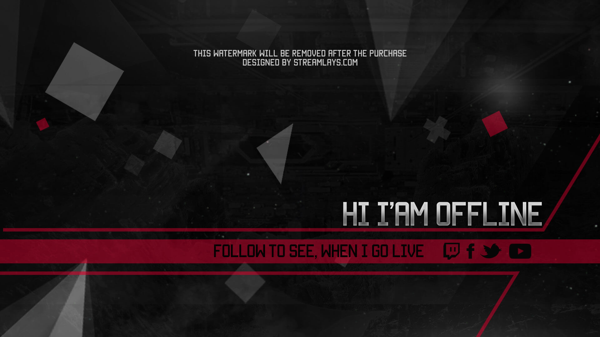 offline screen red