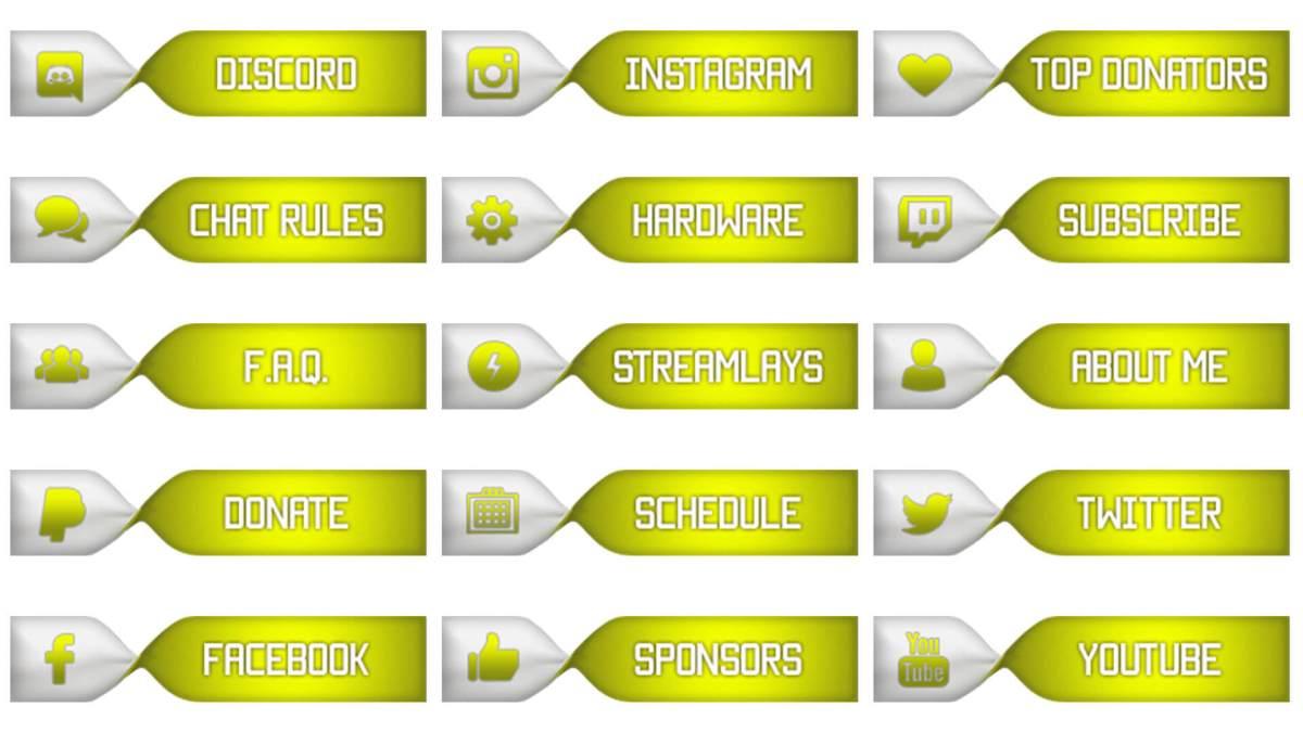 twitch panels set yellow