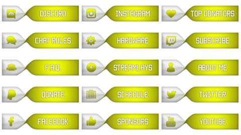twitch panels set yellow