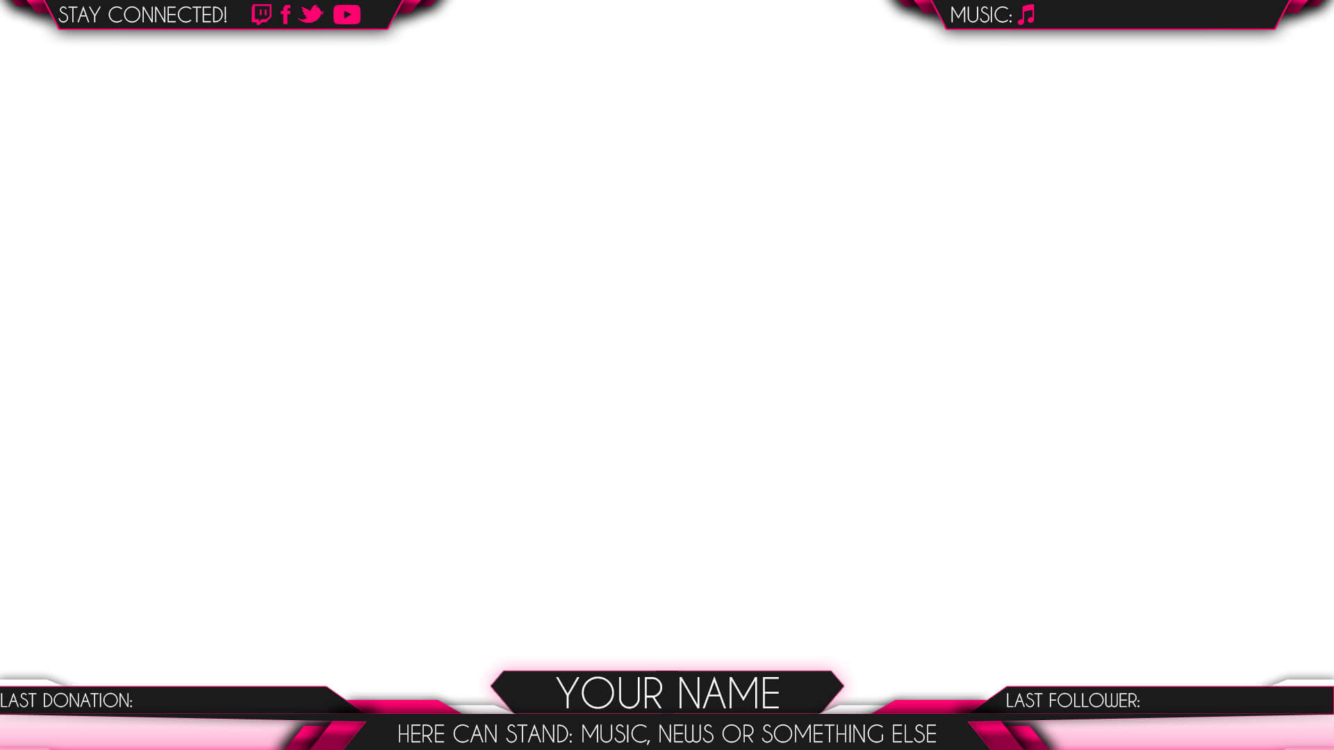 twitch overlay pink woman