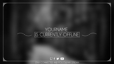 twitch offline screen black