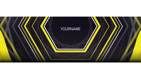 twitch banner yellow