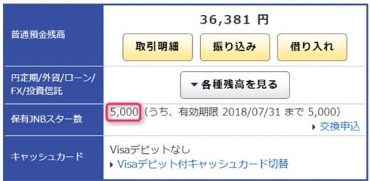 ジャパンネット銀行 JNBスター5000P.jpg