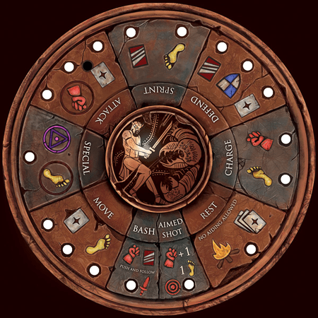 The Noble Artist Rondel Hero Game Board