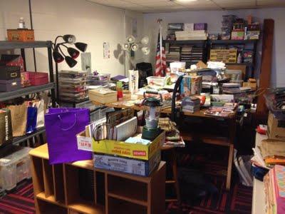 Organized Craft Room- Before
